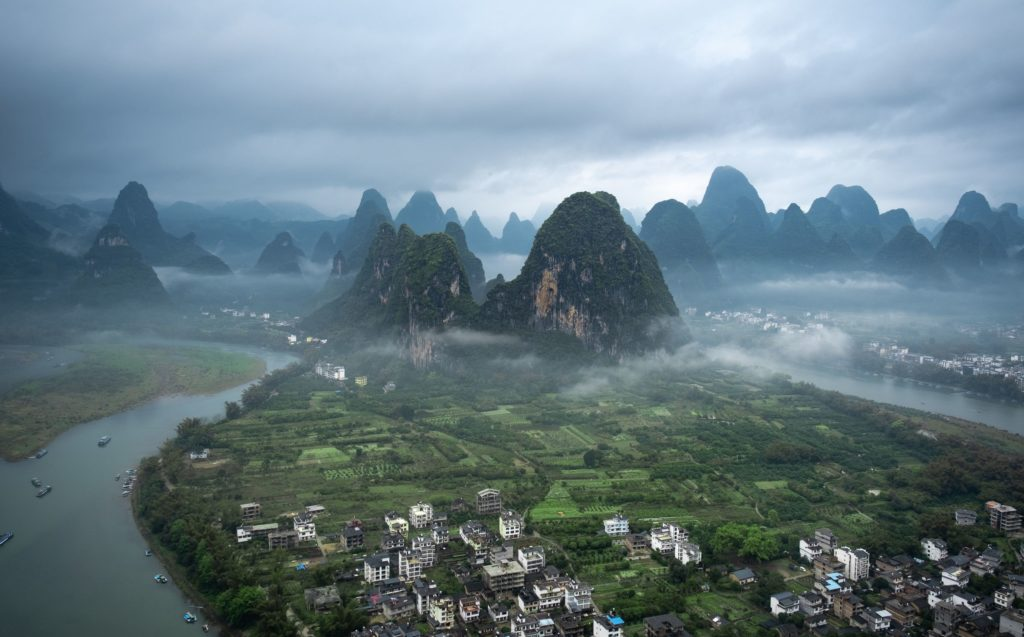panorama-z-laozhai-hill-chiny